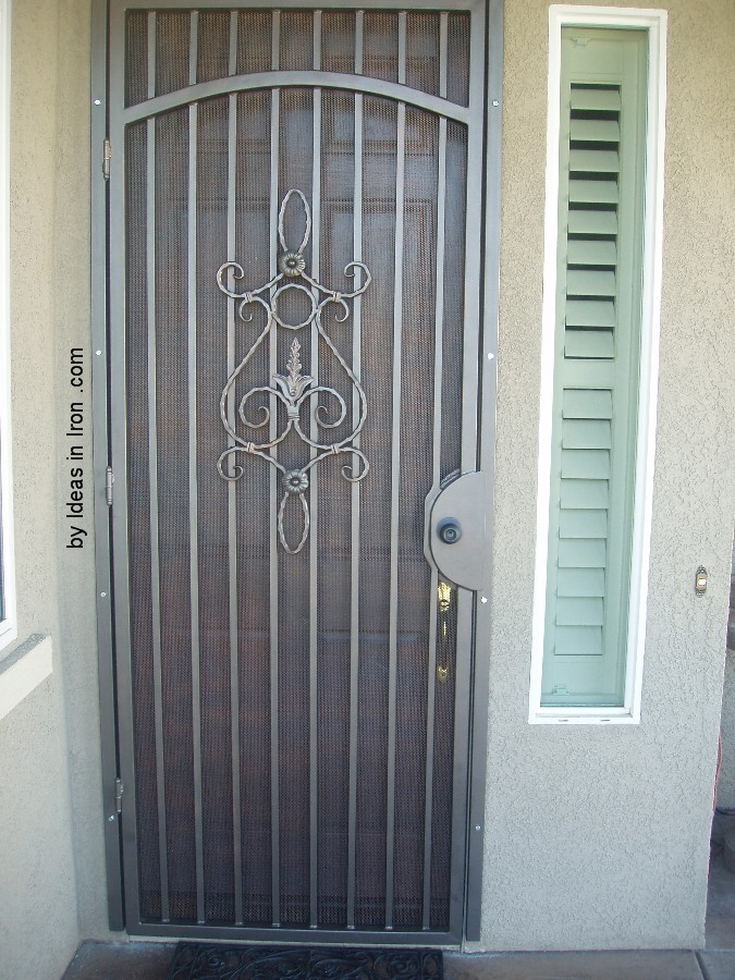 Security screen doors security screen door french doors for Can you put screens on french doors