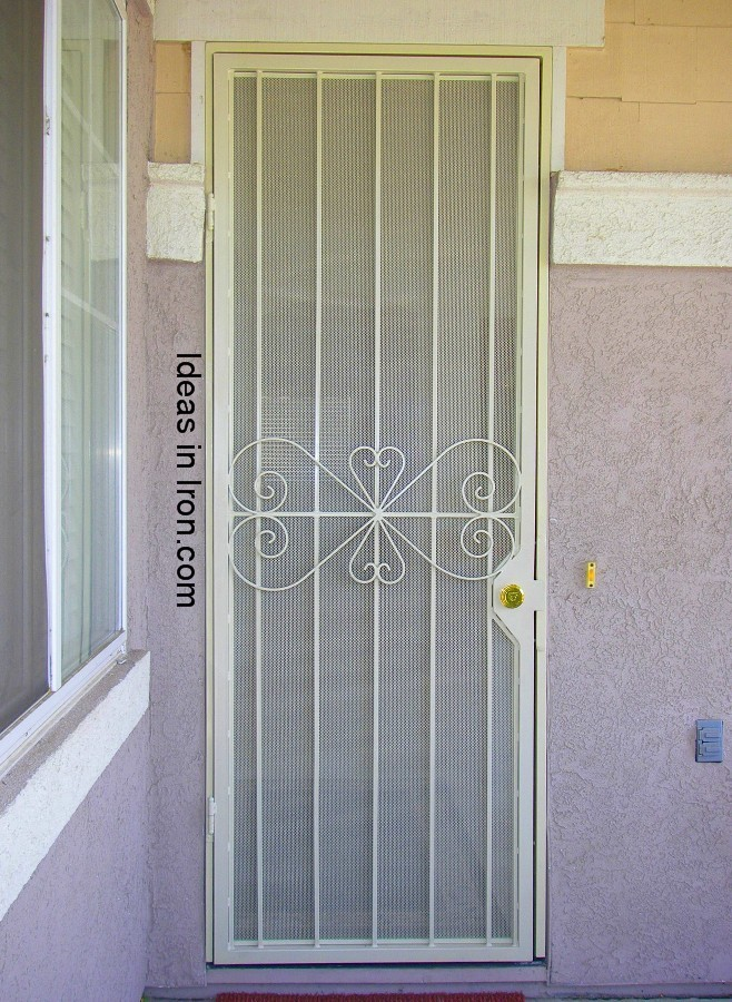 Security screen doors tall security screen door for Security screen doors for french doors