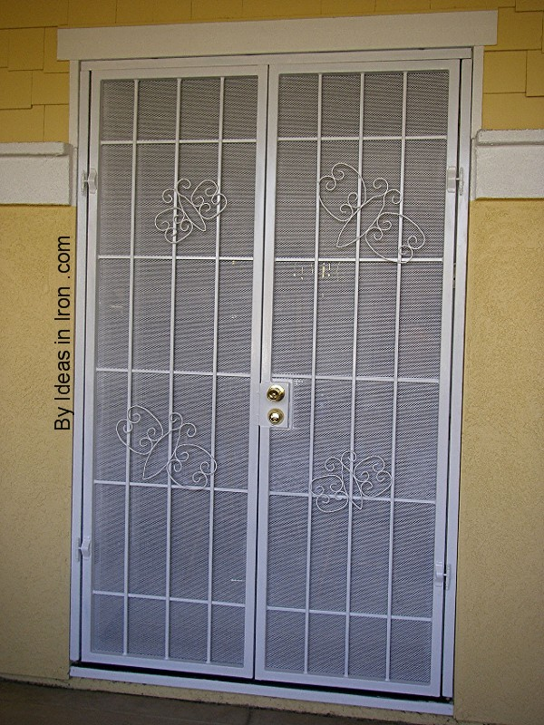 Security screen doors security screen door for french doors for Double door screen door